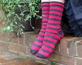 Self Striping Sock Yarn, Voodoo Lounge Colorway