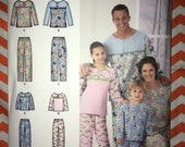 CLEARANCE Brand-new Uncut Simplicity Pattern no. 2481 - child, teens & adults size pajama or leisure Pants and Top