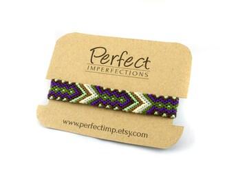 Arrow Friendship Bracelets / Handwoven Braided Bracelet Best Friend Gift / Tribal Aztec Geometric Jewelry / Stackable Boho Wrap Bracelet