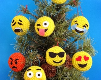 Two Emoji Ornaments - Your Choice