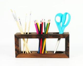 Art Supply Organizer / Desk Organizer / Pencil Holder / Makeup Brush Holder