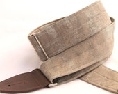 Guitar Strap - Monument Grey - Leather Ends and Optional Pick Pouch