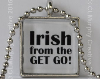 St. Patrick's Day Necklace Pendant Jewelry St. Patty's Day Irish Luck of the Irish Shamrock Irish Grown