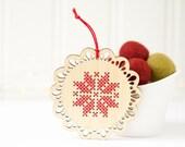 DIY Kit // Cross Stitch Ornament // Scandinavian Inspired Ornament // Christmas Ornament