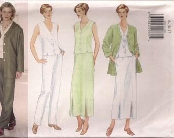 Butterick Sewing Pattern 6014 - Misses'/Miss Petite Jacket, Duster, Skirt & Pants (8-12)