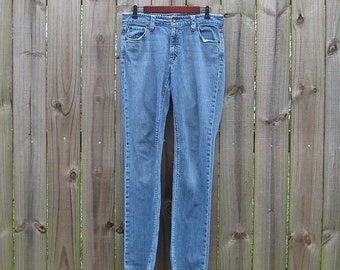 M L Medium Large Vintage 90s Mid/High Rise Distressed GAP Original Bootcut Alternative Grunge Indie Jeans Denim