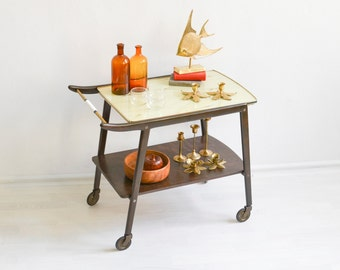 60s Bar cart, tea cart, serving cart, 60s bar, Mid-Century bar cart, MCM bar