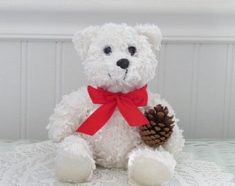 Wax Dipped Pine Scented Bear