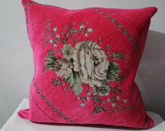 Goblen Floral Pillow Cover Pink/Blue