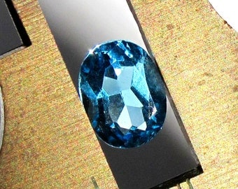 Electra Swiss Blue Topaz Faceted Oval ~ 9X7mm Natural Blue Gemstone ~ December Birthstone