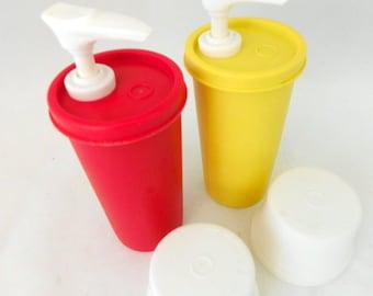 Tupperware Ketchup and Mustard Bottles