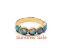 Gold ring. Opal gold ring. opal jewelry, gold jewelry, opal ring, gift for her, birthday gift, gold opal ring (gr6602-256)