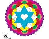 Jewish Star Mandala-Digit...