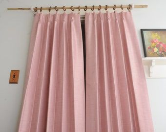 PAIR Sears Pink Silky Curtain Panels