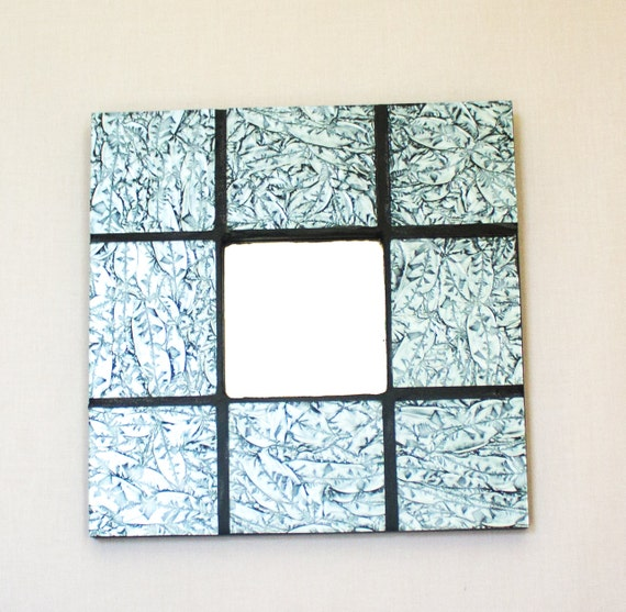 Sheffield Home Beveled Glass Mirror Home Design Ideas: Silver Wall Mirror Stained Glass Mosaic Unique Wall Art