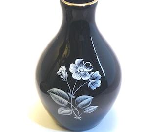 """Wade """"Black Frost"""" Range Vase 1965-62 - Wade - Wade Pottery - Wade Bud Vase - Wade Black Vase - Wade Black Frost - Wade Vase - Vintage Wade"""