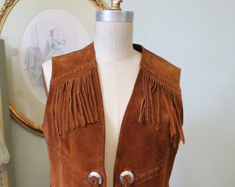 1970s Gypsy Boho Fringed Suede Jacket