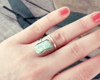 amazonite ring etsy. Black Bedroom Furniture Sets. Home Design Ideas