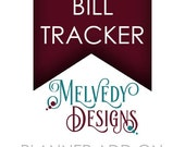 ADD ON Monthly Bill Tracker or Organizer for a Melvedy Designs Planner