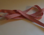 Cotton Bias Piping - Red Stripe,