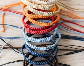 Surfer bracelet Macrame bracelet Hippie gift Friendship bracelet Bff bracelet Macrame jewelry Stackable bracelets