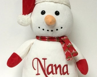 Personalized Plush Christmas Snowman Stuffed Plush