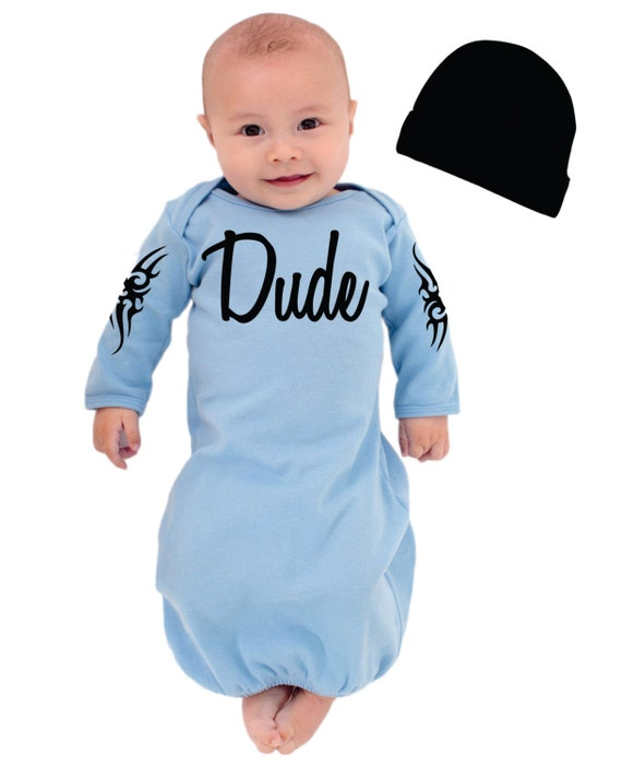 Items similar to Baby Boys Dude Outfit with Tribal Tattoos