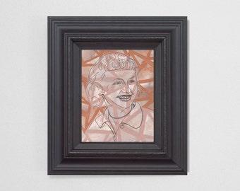 "8x10"" Original Fine Art Painting. ""Ghosts"" Series (4/6) : ""Vera"" Mixed Media."