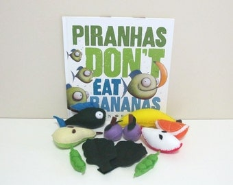 Educational Toy, Pretend Food, felt Food, Children's Book
