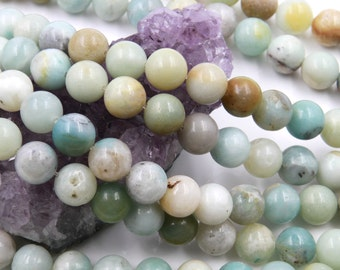 Lot of 5 strands 10mm Multicolor Amazonite (N) Loose Spacer Beads Round 15.5 inch strand (BD5925)