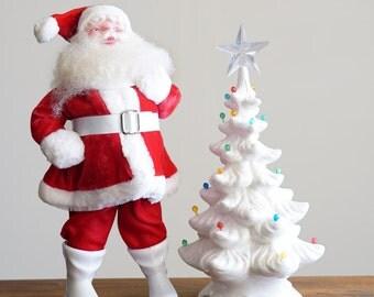 Vintage Ceramic White Christmas Tree
