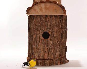 Log Birdhouse, Rustic natural birdhouse