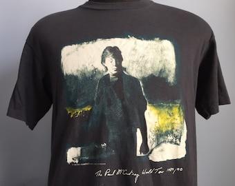 80s Vintage Paul McCartney 1989-1990 World Tour T-Shirt - XL X-LARGE