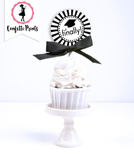 Graduation Cupcake Toppers - CLASS OF 2016 | Graduation Party Decorations | Graduation Party Decor | Printable