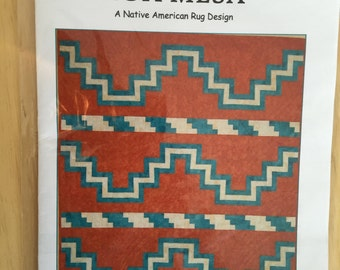 high mesa native american quilt pattern by j michelle watts two sizes