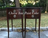 Mahogany Vintage SideTables -- Paint to Order
