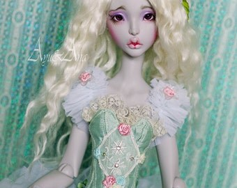 Mint Fairytale OOAK handmade dress set for bjd dollfie sd cerisedoll lillycat clothing clothes doll size cute kawaii romantic lace style