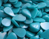 Teardrop Cabochons Acrylic Tear Drop Turquoise Small Cabs 7.5mm X 5.5mm Tear Drop Shaped (BAG of 10) #ECAB-32