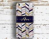 Tribal Iphone 6 Plus case, Aztec Iphone 6s case, Monogram Iphone 6s Plus case, Arrows Iphone 6 case for women, Navy blue pink chevron (1426)
