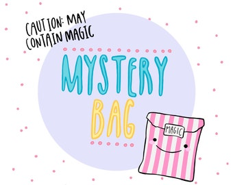 Mystery Bag | The Lucky Dip Bag: surprise collection of jewellery, accessories & gifts. A little magic mystery box of Kawaii!
