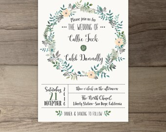 Woodsy Wedding Invitations Rustic Intimate Outdoorsy Wedding
