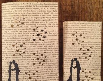10 Book Wedding Luminaries, Book Wedding, Book Decor, Love, Book Themed Wedding, Library Wedding, Library Theme, Book Page Luminaries