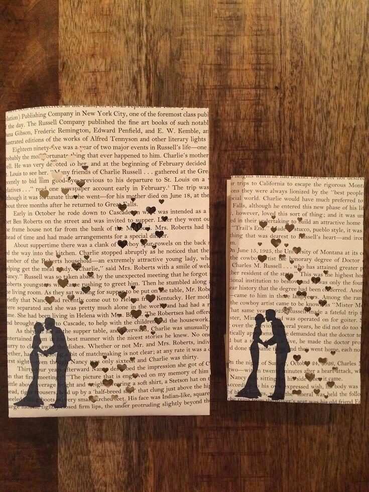 10 Book Wedding Luminaries Book Wedding Book Decor Love Book