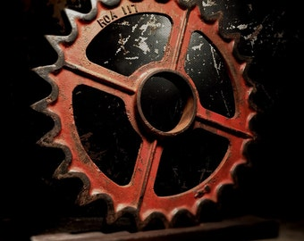 Antique Industrial Gear Display