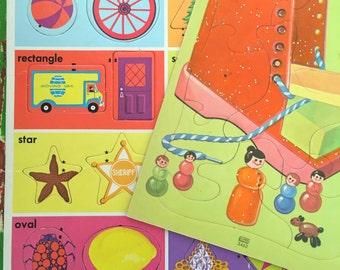 Pair of vintage children's puzzles