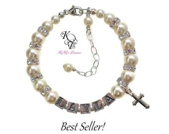 Baby Bracelets, Personalized Baptism Bracelet, Baby Boy Baptism, Baby Girl, Baptism Gift, Christening Gifts, Personalized Baby