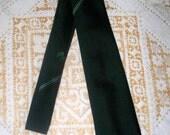 1960s Millaro of Ireland Men's Tie  - Dark Green  - 100% Polyester - Shamrocks