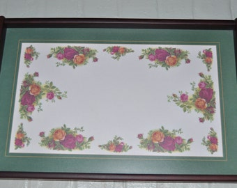 Old Country Roses Dark Beech Serving Tray