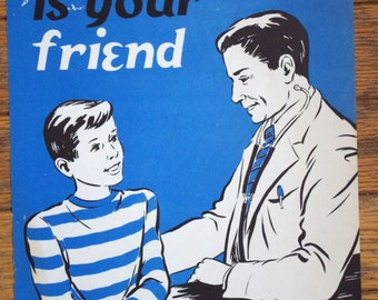 Vintage 1950s PSA Health Poster Your Doctor is Your Friend
