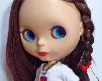 Ruby Red Heart in Swarovski Crystal - Necklace for your BlytheStar